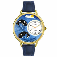 Whales Watch in Gold (Large)