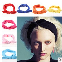 New Fashion Korean Style Rabbit Ear Headscarf Elastic Scrunchy Headbands For Women Hair Accessories = 1946573892