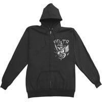 A Day To Remember Men's  Doubt Zippered Hooded Sweatshirt Black
