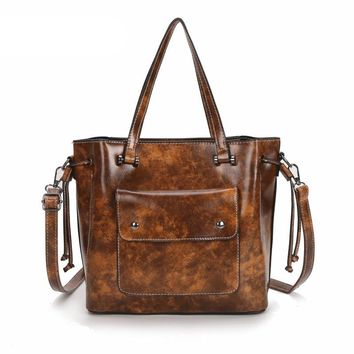 STYLEDOME Vintage Women Shoulder Bag Female Causal Totes Messenger for Daily Shopping All-Purpose High Quality Dames Crossbody Handbag