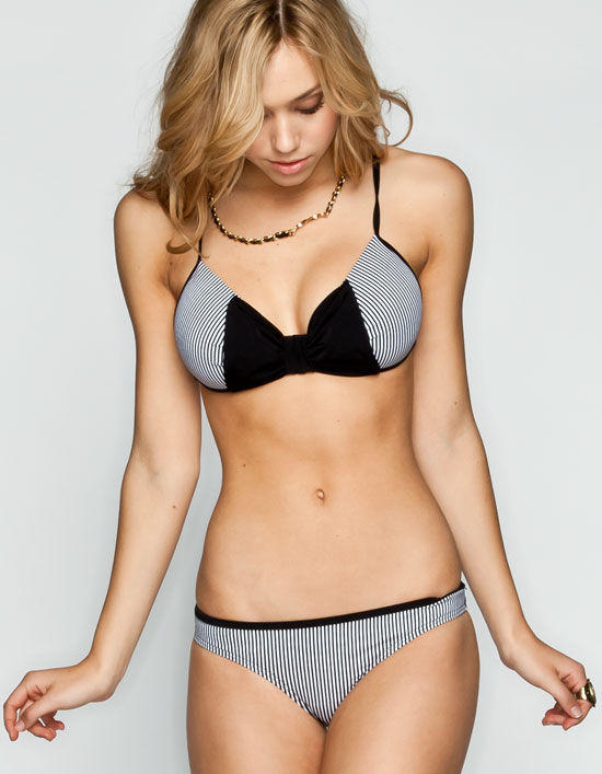Damsel Stripe Bow Push Up Cup Bikini Top From Tilly S