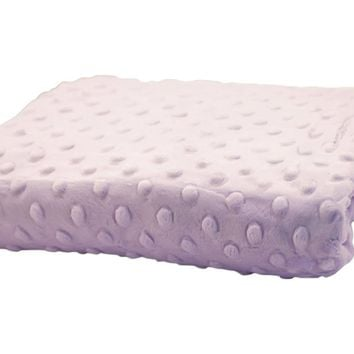 Rumble Tuff Kit Minky Dot Contour Standard Lavender Changing Pad Cover