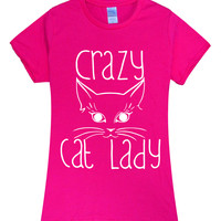 2017 new sexy Summer Crazy Cat Lady t shirt Women brand tops harajuku tee pink shirt funny angel grunge femme black white hiphop