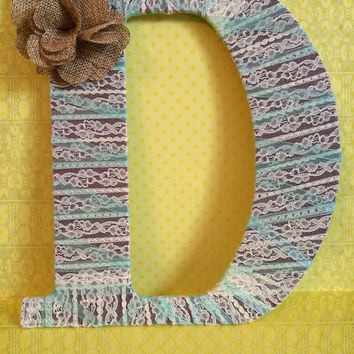 Handcrafted Decorated Monogram-Letter D by Tightly Wound Designs