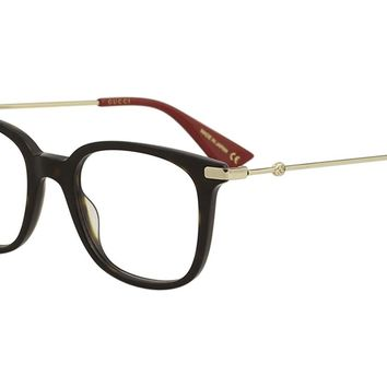 Gucci GG0110O Plastic Square Eyeglasses 49mm
