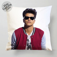 Bruno Mars cute pillow case, cover ( 1 or 2 Side Print With Size 16, 18, 20, 26, 30, 36 inch )