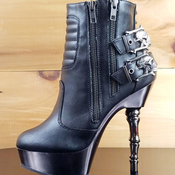 58f3c8dbbd6 Best Goth Heel Boots Products on Wanelo