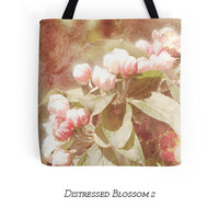 Pink Floral Tote, Small Shopping, Shoulder Bag, Flower Photography, Apple Blossom