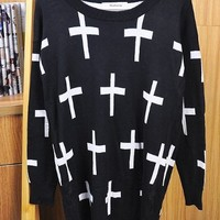 Cross Sweater (multiple colors)