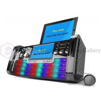 Akai Bluetooth CD+G Karaoke Disco Party Machine with Light Effects