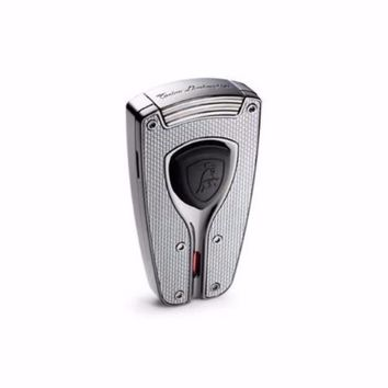 Tonino Lamborghini Forza Gunmetal and Carbon Fiber Torch Flame Lighter