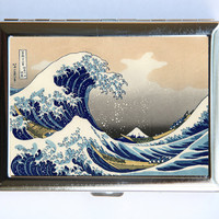 Great Wave off Kanagawa Cigarette Case Wallet Business Card Holder japanese tattoo woodblock SUMMER SALE