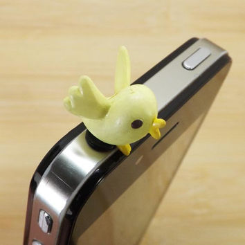 50%OFF Lively Oriole Yellow Bird Anti Dust Plug 3.5mm Smart Phone Dust Stopper Earphone Cap Headphone Jack Charm for iPhone 4S 5 HTC Samsung