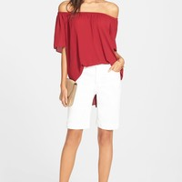 Vince Camuto Off the Shoulder Blouse & KUT from the Kloth Denim Bermuda Shorts | Nordstrom