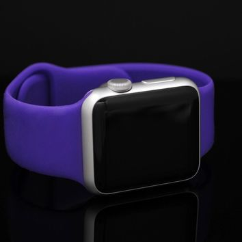 Apple Watch 38mm 7000 Series With Purple Sport Band Model A1553