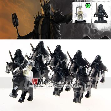 Building Blocks WM1016 Ring Witch-king of Angmar Wraith Lord of the Rings Attack on Wethertop 18pcs/lot Children Gifts Toys