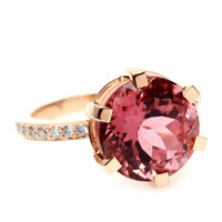 mytheresa.com -  18kt Pink Gold Zaza Ring With Faceted Tourmaline And White Diamonds » Cada | mytheresa - Luxury Fashion for Women / Designer clothing, shoes, bags