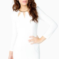 Petal Cut Out Sheath Dress