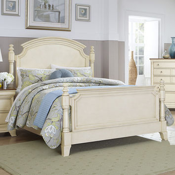 Homelegance Inglewood II Panel Poster Bed in Antique White