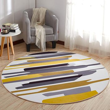 Round Carpet Rug Door Mat Modern Carpets for Living Room Area Rug Carpet Bedroom Anti-Slip Floor Rug Mat Tapete Home Textile