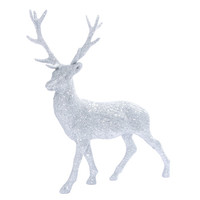 Holiday Silver Glitter Reindeer