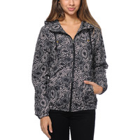 Volcom Girls Enemy Lines Black Floral Windbreaker Jacket at Zumiez : PDP