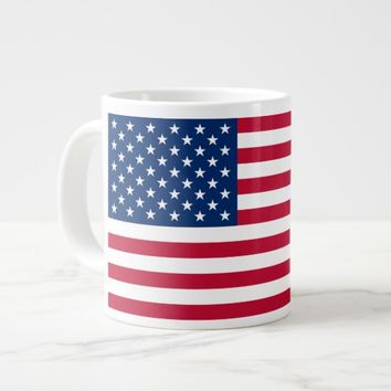 American Flag Large Coffee Mug