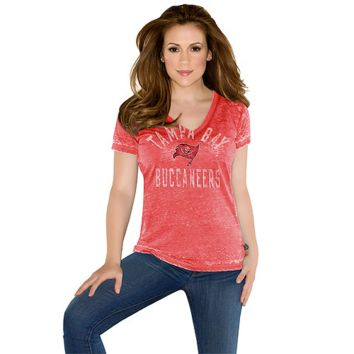 Touch by Alyssa Milano Tampa Bay Buccaneers Womens Fire Drill Premium T-Shirt - Red