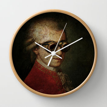 Steampunk Mozart Wall Clock by Paul Stickland for StrangeStore