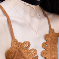 Marni Feather Necklace 14k Gold fill