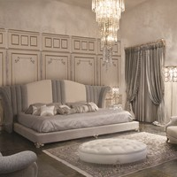 Upholstered fabric king size bed RE SOLE Éclectique - Donna Mantellassi Collection by Mantellassi 1926