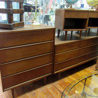 B P John Bedroom set - four piece mid century modern