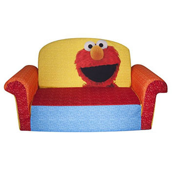 Marshmallow Furniture Elmo/Sesame Flip Open Sofa