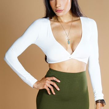 Knot Your Average Crop Top - White
