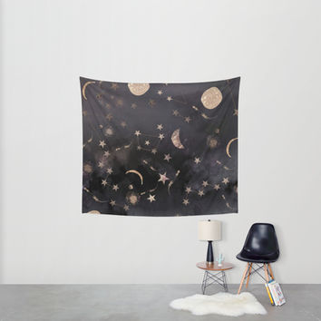 Constellations Wall Tapestry by Nikkistrange