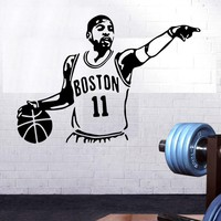 Basketball Kyrie Irving Vinyl Wall Sticker Home Decoration Stikers For Kids Rooms Decal Mural Wallpaper Boston Celtics