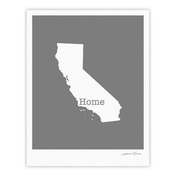 "Bruce Stanfield ""California Is Home"" Gray White Fine Art Gallery Print"