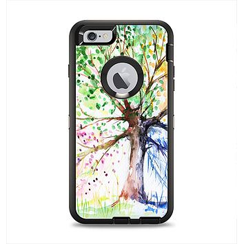 The WaterColor Vivid Tree Apple iPhone 6 Plus Otterbox Defender Case Skin Set