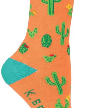 Desert Cactus Women's Crew Socks - Made in America