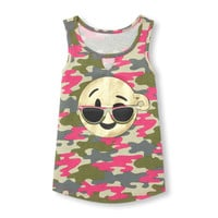 Girls Matchables Sleeveless Foil Camo Print Graphic Tank Top | The Children's Place