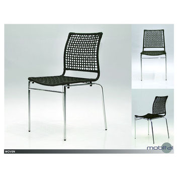 Mobital Woven Dining Chair In Rattan