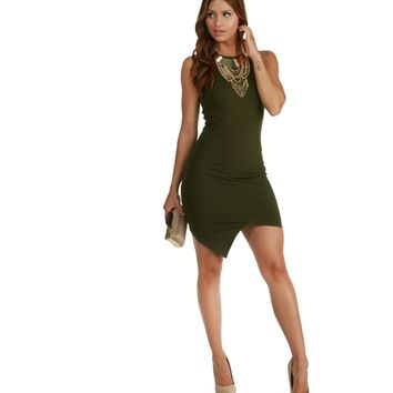 Pre-order: Olive Pout Bodycon Dress