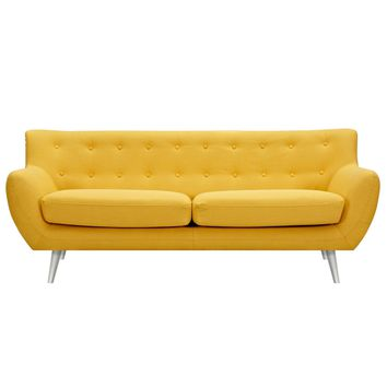 Anke Mid Century Modern Sofa - Papaya Yellow