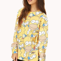Oversized Simpsons Sweatshirt