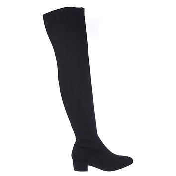 Tutor Pull On Over Knee Dress Boots - Womens Pointed Closed Toe Shoe