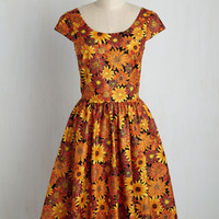 Autumn Leaf Festival Floral Dress