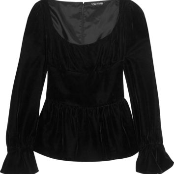 Tom Ford - Velvet peplum top