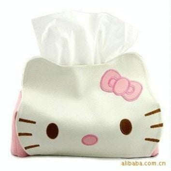 Hello Kitty Cute Home & Car Tissue Case Box Container  Towel Napkin Papers Bag Holder BOX Case Pouch