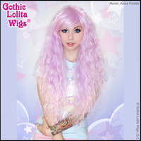 Rhapsody™ in Lavender to Pink Fade - Gothic Lolita Wigs Store