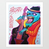 Jazz and Blues Art Print by Laura Barbosa Art
